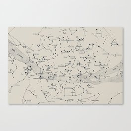 Carte du Ciel II Canvas Print
