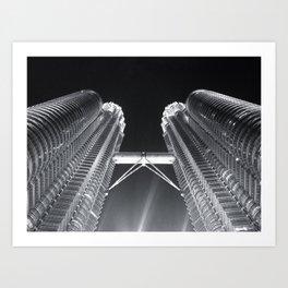 Petronas Towers in Kuala Lumpur Art Print