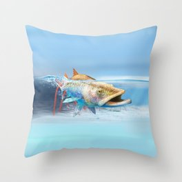 Snook in the Mangroves Throw Pillow