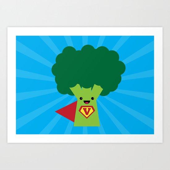 Super Broccoli Art Print