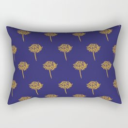 Navy dandelion Rectangular Pillow