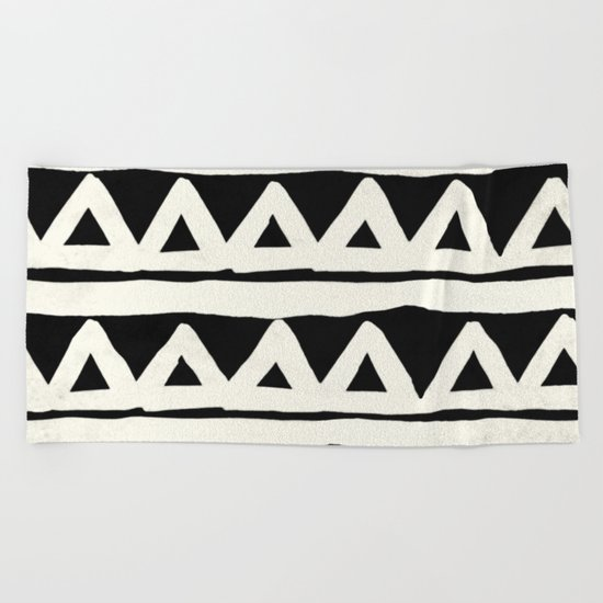Tribal Chevron Stripes Beach Towel