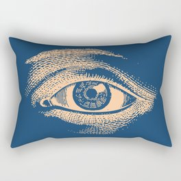Retro Vintage Blue Eye Pattern Rectangular Pillow
