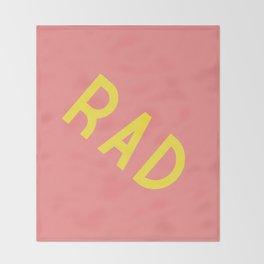 Rad Throw Blanket