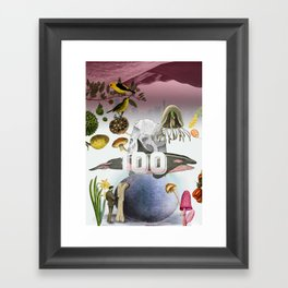 100 Framed Art Print