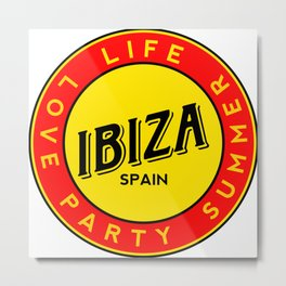 Ibiza, summer, party, love, circle Metal Print