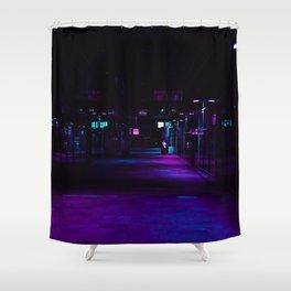Cyberpunk Future Hallway Shower Curtain