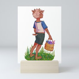 Flower Gatherer Mini Art Print