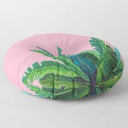 tropical pink Floor Pillow