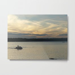 Sunset Lake Photography Art Metal Print
