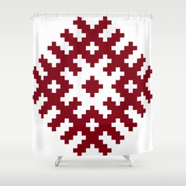 Latvian symbol Shower Curtain