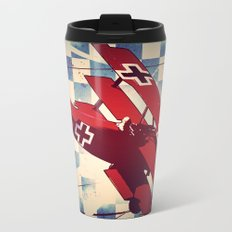 Fokker triplane (Red Baron) Pop Art Travel Mug