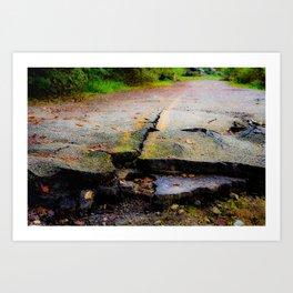 Broken Road Art Print