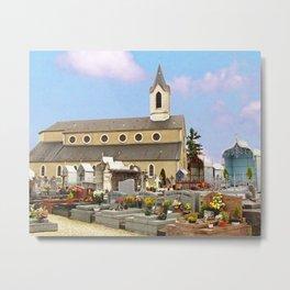 Church and cemetery of Jurançon Metal Print