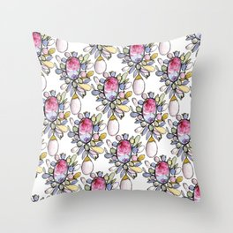 Brooch Repeat Throw Pillow
