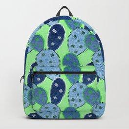 Denim Cactus Patchwork Quilt (Green) Backpack