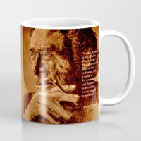 bukowski Mugs featuring Charles Bukowski - quote - sepia by ARTito