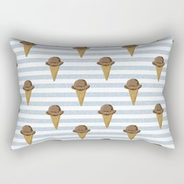 ice cream cones stripes food fight apparel and gifts Rectangular Pillow