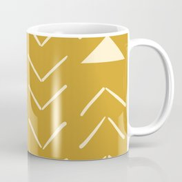 Mud Cloth Vector in Gold Coffee Mug
