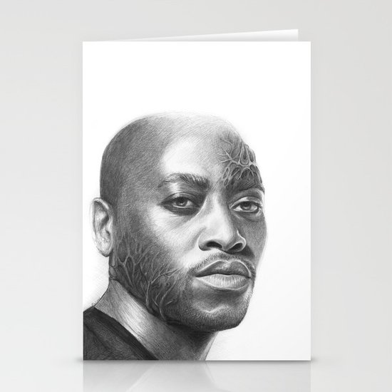 Dr. Foreman-House MD-Omar Epps-Portrait Stationery Cards