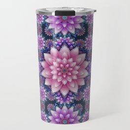 Embroidered pink & purple Travel Mug