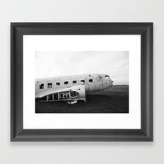 Iceland Plane Wreckage DC-3 Framed Art Print