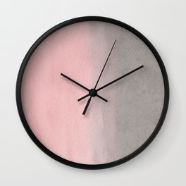 Gradient watercolor pink-gray Wall Clock