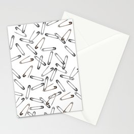 Safety pin Stationery Cards