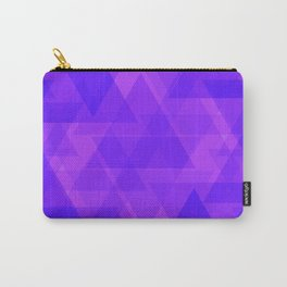 Bright purple triangles in intersection and overlay. Carry-All Pouch