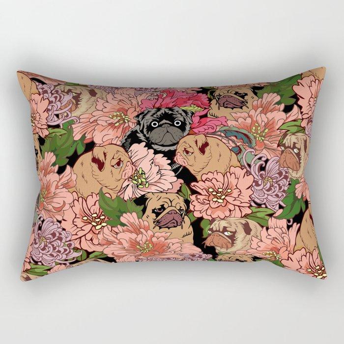 Because Pugs Rectangular Pillow