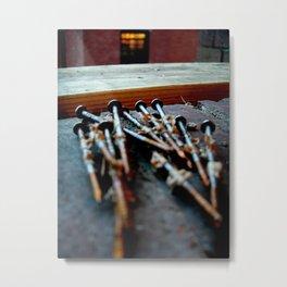 Nailed Metal Print