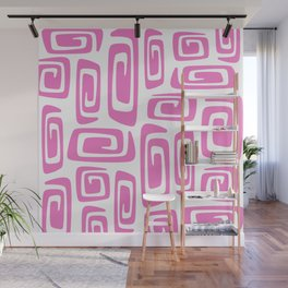 Mid Century Modern Cosmic Abstract 613 Pink Wall Mural
