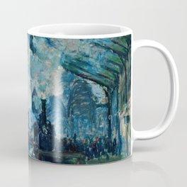Claude Monet - Arrival Of The Normandy Train, Gare Saint Lazare Coffee Mug