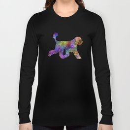 Portuguese Water Dog in watercolor Long Sleeve T-shirt