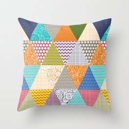 seaview beauty triangles Throw Pillow
