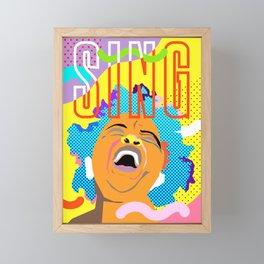 Sing Framed Mini Art Print