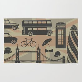 vector set of London landmarks Britain symbols isolated Rug