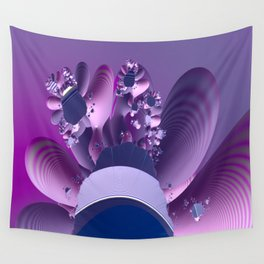 Abstract cactus blooming Wall Tapestry