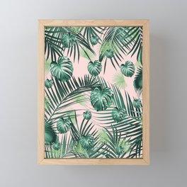 Tropical Jungle Leaves Garden #2 #tropical #decor #art #society6 Framed Mini Art Print