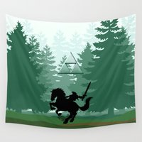 the legend of zelda Wall Tapestries featuring Legend Of Zelda by Kesen