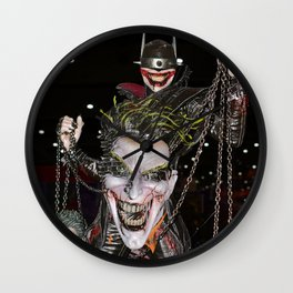 Joker Conquers The Bat Wall Clock