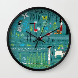 In The Marshlands Wall Clock
