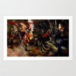 Polish Winged Hussars Art Print