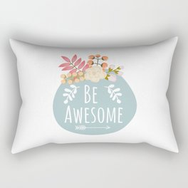 Be Awesome, Nursery Wall Art, Printable Wall Art, Typography Quote Rectangular Pillow