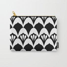 Art Deco Fans Black & White Carry-All Pouch