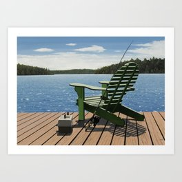 Gone Fishing Art Print