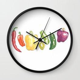 Pepper Rainbow Wall Clock