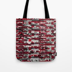 Nothing Is Accomplished (P/D3 Glitch Collage Studies) Tote Bag