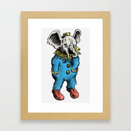 Clown O Phant Framed Art Print