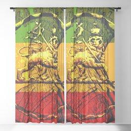 Lion of Judah Haile Selassie King of Kings Sheer Curtain